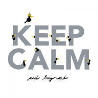 Keep Calm - white