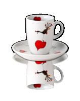 Kaffeetasse mit Untertasse Herzdame
